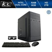 Computador Desktop ICC IV1883C Intel Dual Core 2.41ghz 8GB HD 2TB DVDRW Kit Multimídia -