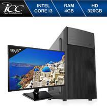 Computador Desktop ICC IV2340S3M19 Intel Core I3 3.20 ghz 4gb HD 320GB HDMI FULL HD Monitor LED 19,5 -