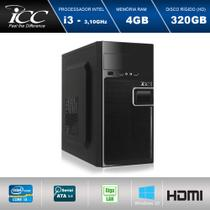 Computador Desktop ICC IV2340WS-3 Intel Core I3 3.20 ghz 4gb HD 320GB Windows 10 -