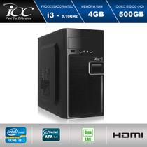 Computador Desktop ICC IV2341S Intel Core I3 3.10 ghz 4gb HD 500GB HDMI FULL HD