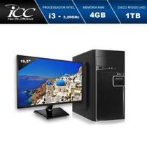 Computador desktop icc iv2342sm19 intel core i3 3.20 ghz 4gb hd 1tb hdmi full hd monitor led 19,5 -
