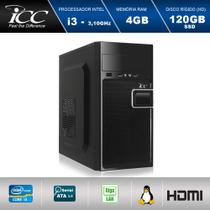 Computador Desktop ICC IV2346S Intel Core I3 3.20 ghz 4gb HD 120GB SSD HDMI FULL HD -