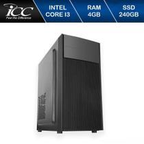 Computador Desktop ICC IV2347S Intel Core I3 3.20 ghz 4gb HD 240GB SSD HDMI FULL HD -