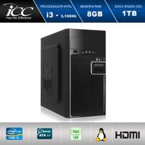 Computador Desktop ICC IV2382S Intel Core I3 3.20 ghz 8gb HD 1TB HDMI FULL HD -