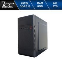 Computador Desktop ICC IV2383D Intel Core I3 3.20 ghz 8GB HD 2TB DVDRW HDMI FULL HD -