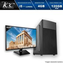 Computador Desktop ICC IV2546SWM18 I5 4gb HD 120GB SSD Monitor 18 WINDOWS