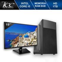 Computador Desktop ICC IV2582DWM19 Intel Core I5 3.20 ghz 8GB HD 1TB DVDR Monitor 19,5 Windows 10 -