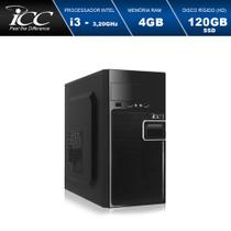 Computador Desktop ICC Vision IV2346SW Intel Core I3 3.20 GHZ 4GB HD 120GB SSD HDMI FULL HD Windows 10