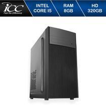 Computador Desktop ICC Vision IV2580D3W Intel Core I5 3,2 GHZ 8GB HD 320GB com DVDRW Windows 10 -
