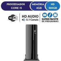 Computador Desktop Intel Core i5 3.40Ghz 4GB HD 500GB Wifi HDMI Full HD EasyPC SlimDesk -