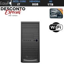 Computador Desktop Intel Core i7 8GB HD 1TB HDMI Full HD Wifi EasyPC Super