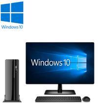 """Computador Desktop Processador Intel Core i5 4GB HD 500GB Monitor 19.5"""" HDMI Windows 10 CorPC Slim -"""