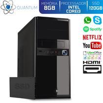 Computador Desktop Quantum Expert QE31009D Intel Core i3 3GHZ 8GB SSD 120GB HDMI Full HD -