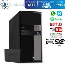 Computador Desktop Quantum Expert QE31010D Intel Core i3 3GHZ 4GB SSD 120GB DVD-RW HDMI Full HD -