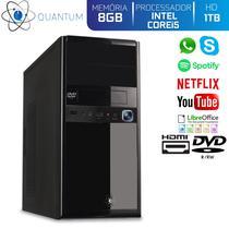 Computador Desktop Quantum Expert QE51006D Intel Core i5 3,4GHZ 8GB HD 1TB DVD-RW HDMI Full HD -