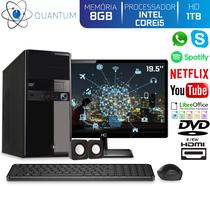"Computador Desktop Quantum Expert QE51914MD Intel Core i5 3,4GHZ 8GB HD 1TB DVD-RW Kit Multimídia e Monitor 19.5"" LED HDMI -"