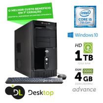 Computador DL Advance - Intel core i5, 4GB, HD 1TB, USB3.0, Windows 10 SL + mouse e teclado -