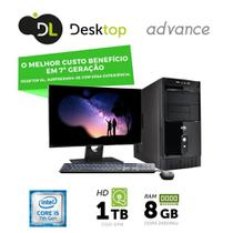 "Computador DL Advance - Intel core i5, 8GB, HD 1TB, USB3.0, Linux + Monitor 19,5"", mouse e teclado -"