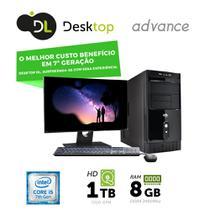 "Computador DL Advance - Intel core i5, 8GB, HD 1TB, USB3.0, Linux + Monitor 19,5"", mouse e teclado -"