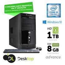 Computador DL Advance - Intel core i5, 8GB, HD 1TB,USB3.0, Windows 10 SL+ mouse e teclado -