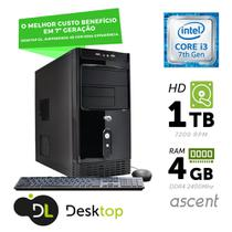 Computador DL Ascent - Intel core i3, 4GB, HD 1TB, USB3.0, Linux + mouse e teclado -