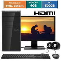 Computador EasyPC Intel Core i3 4GB DDR3 HD 500GB HDMI Monitor LED 19.5