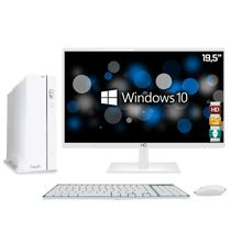 Computador EasyPC Slim White Intel Core i7 8GB HD 1TB Monitor LED 19.5
