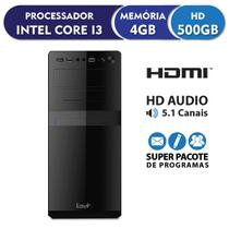 Computador EasyPC Standard Intel Core i3 4GB DDR3 HD 500GB HDMI FullHD audio 5.1 -