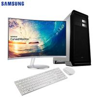 Computador EasyPC White Intel Core i7 16GB 3TB Windows 10 Monitor Curve Samsung 27