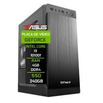 Computador Fácil by Asus Intel Core i3 10100f (Décima Geração) 4GB DDR4 Geforce Nvidia 1GB SSD 240GB - Fácil Computadores