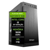 Computador Fácil Intel Core i5 10400f (Décima Geração) 16GB DDR4 Geforce Nvidia 1GB HD 1TB - Fácil Computadores
