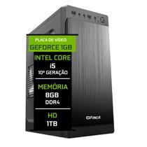 Computador Fácil Intel Core i5 10400f (Décima Geração) 8GB DDR4 Geforce Nvidia 1GB HD 1TB - Fácil Computadores
