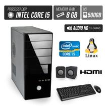 Computador Flex Computer Advanced I Intel Core i5 8GB DDR3 500GB HDMI áudio 5,1
