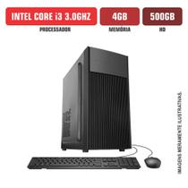 Computador Flex Computer Dynamic Intel Core i3 3.0Ghz 4Gb Hd 500Gb Sata 3 Kit Teclado e Mouse -