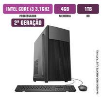 Computador Flex Computer Intel Core I3-2100 4GB HD 1Tb Com Kit Windows 10 -