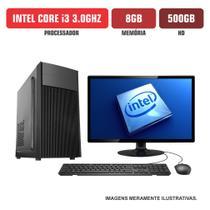 """Computador Flex Computer Intel Core i3 8GB HD 500Gb Com Kit Monitor 19"""" -"""