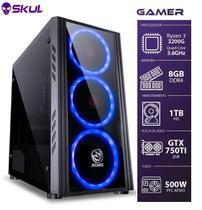 Computador Gamer 3000 - Ryzen 3 3200g 3.6ghz Mem. 8gb Ddr4 Hd 1tb Gtx 750ti 2gb Fonte 500w - Skul