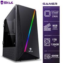 Computador Gamer 5000 - I5 9400F 2.9GHZ 9A GER. sem Video INTEGR. MEM.8GB DDR4 HD 1TB SSD 120GB Fonte 600W 80 PLUS White - SKUL