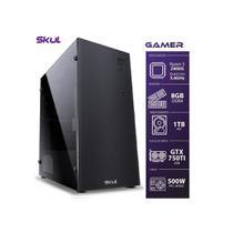 Computador Gamer 5000 - Ryzen 5 2400G 3.6Ghz Mem. 8Gb DDR4 Hd 1Tb Gtx750TI 2Gb Fonte 500W - Skull