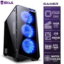 Computador Gamer 9000 -i9 9900kf 3.6ghz Mem.16gb Ddr4(2x8gb) Ssd 480gb Hd 2tb Water Cooler 240mm Gtx 1660 6gb Fonte 600w - Skul
