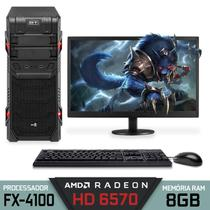 Computador Gamer AMD Bulldozer Quad-Core RAM 8GB SSD 240GB AMD Radeon HD 6570 2GB Monitor 18,5'' - Alfatec