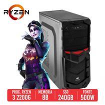 Computador gamer AMD Ryzen 3 2200g com 8gb ddr4, ssd 240gb -