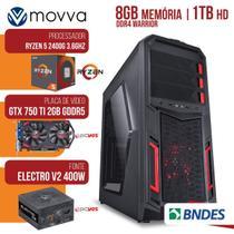 Computador Gamer AMD RYZEN 5 2400G 3.4GHZ MEM. 8GB HD 1TB GTX 750TI 2GB Fonte 400W - Linux -