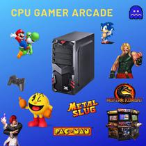 Computador Gamer Arcade Intel Core 2 Duo 4gb Ram Hd 500 + Placa de vídeo 128mb / Windows 07 Com 2 controles + de 1000 Jogos Retrô !! -
