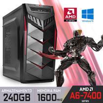 Computador Gamer BLAZE AMD A6-7400 Séries, RAM 4/8GB, SSD, AMD Radeon, Windows 10 - Alfatec