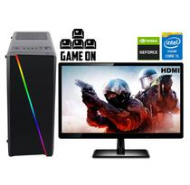 "Computador Gamer com Monitor LED 19.5"" HDMI Intel Core i5 10GB HD 500GB Nvidia Geforce GT EasyPC Light 2 -"