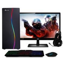 "Computador Gamer Completo com Monitor Full HD 21.5"" Intel Core i5 8GB HD 1TB (Nvidia Geforce GT) Kit gamer com mousepad EasyPC Light -"