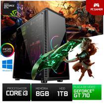 Computador Gamer Cs Box Intel I3 GT710 8gb 1tb - Yesstech X - Fortnite- Gwent -