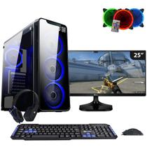 Computador Gamer FirstBlood AMD A10 9700 3.8Ghz Monitor 25 Ultrawide LG (Radeon R7) 8GB DDR4 1TB - Easypc