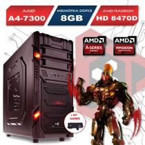 Computador Gamer GT, AMD A4 7300, 8GB Ram, HD 8470D, 500GB com Kit Gamer - Alfatec